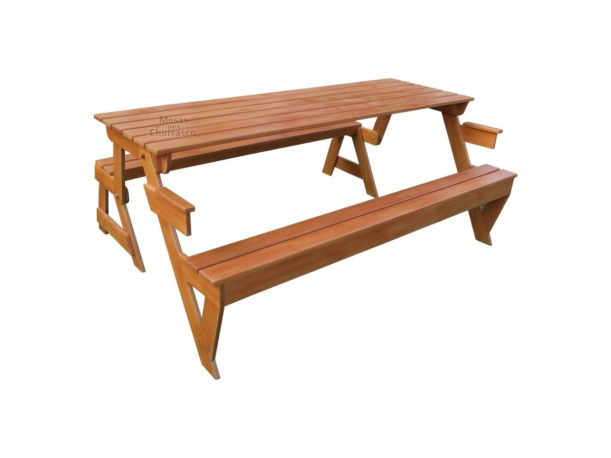 bancos de jardim no rs:mesa banco madeira nobre + churrasco + jardim