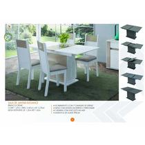 Conjunto Sala De Jantar Elegance Com 4 Cadeiras - Branco
