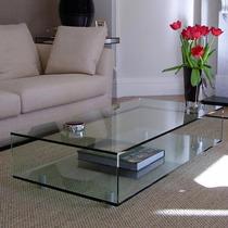 Mesa Centro Formato (luxo) Vidro Temperado 10mm- Resistente