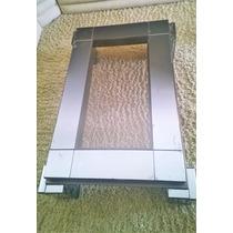 Mesa Espelhada Conjunto Centro + Lateral Espelho Fumê Vidro