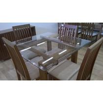 Mesa Quatro Cadeiras Vidro