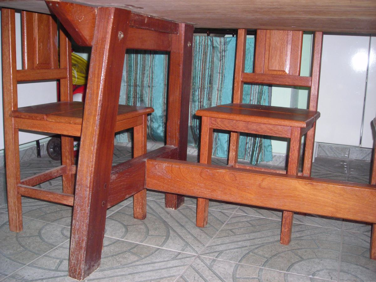 Mesa De Madeira Maciça Rústica R$ 1.700 00 no MercadoLivre #9A5131 1200x900