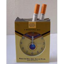 Relógio De Mesa Analogico Cigarro Detalhado Decoraçao Leilao