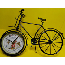 Linda !!!!!!!!! Bicicleta Metal Relogio De Mesa