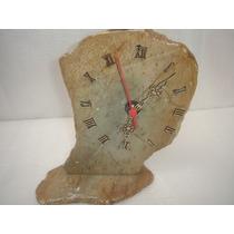 Antiguidade Item Coleção Lindo Relógio Feito Em Pedra Func