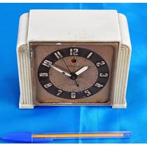 Antigo Relógio De Baquelite Branco Muito Raro Americano