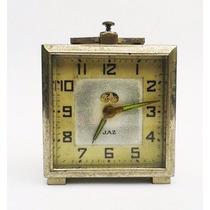 Jaz - Relógio De Mesa Francês Antigo, Contém Função Alarme