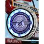 Relogio De Parede Retrô Antiga Rota 66 Com Neon 43,18cm Show