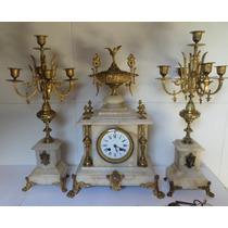 Relógio Francês Com Candelabros - Ar