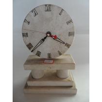 Relógio Em Mármore Crema Marfil -