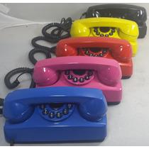 Telefone Antigo Restaurado Várias Cores - Tijolinho