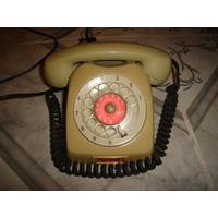 Telefone Ericsson Anos 70 Cor Cinza Completo Disco Vermelho