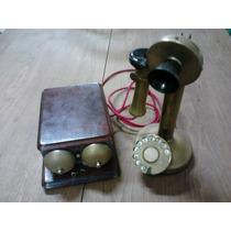 Telefone Antigo Castiçal - Raridade