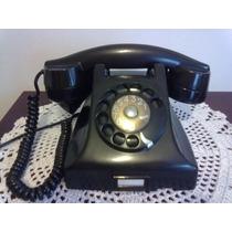 Telefone Ericsson Antigo Baquelite Preto Antiguidade 50/60