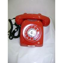 Telefone Dlg Ericsson Vermelho Anos 70 Original