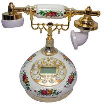 Telefone De Mesa Roxo/ama Modelo Antigo Decoração Presente