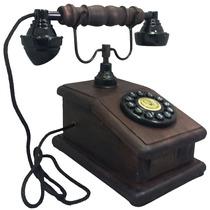Telefone Antigo Retro Vintage Nelconde Mogno