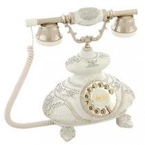 Telefone Folha De Prata Com Pedras (italiano-branco) R