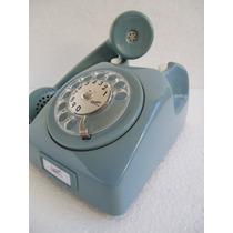 Telefone Ericsson Disco Colorido Azul Original Antigo Retro.