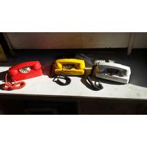 Telefone Tijolinho Cores Original Anos 80 Decoração Ou Uso