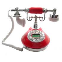 Lindo Telefone Vermelho Vintage Antigo Retro Decoração