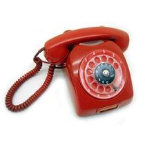 Telefone Antigo De Disco Ericsson Vermelho Funcionando