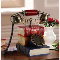 Telefone Retro Vintage Livros Biblioteca -pronta Entrega