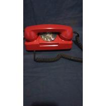Telefone Tijolinho Antigo De Discar Retro Anos 80 Vermelho