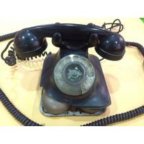 Telefone Antigo De Mesa Preto Em Baquelite
