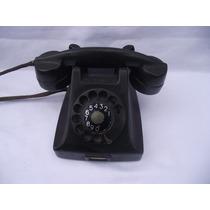 Antigo Telefone Em Baquelite Na Cor Preto (cod.1332)