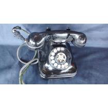 Telefone Preto Baquelite Antigo Anos 60