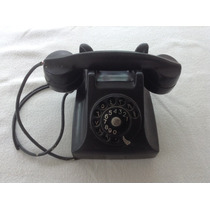 Antigo Telefone De Mesa Preto Arábia Oriente Médio