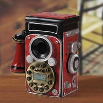 Telefone Retro Vintage Maquina Roleflex -pronta Entrega