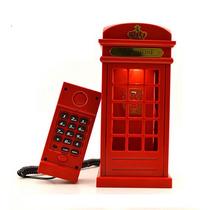 Telefone Com Fio Modelo Cabine Telefônica Londres Vintage