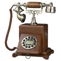 Telefone Retro De Mesa Vintage Gaveta = Pronta Entrega