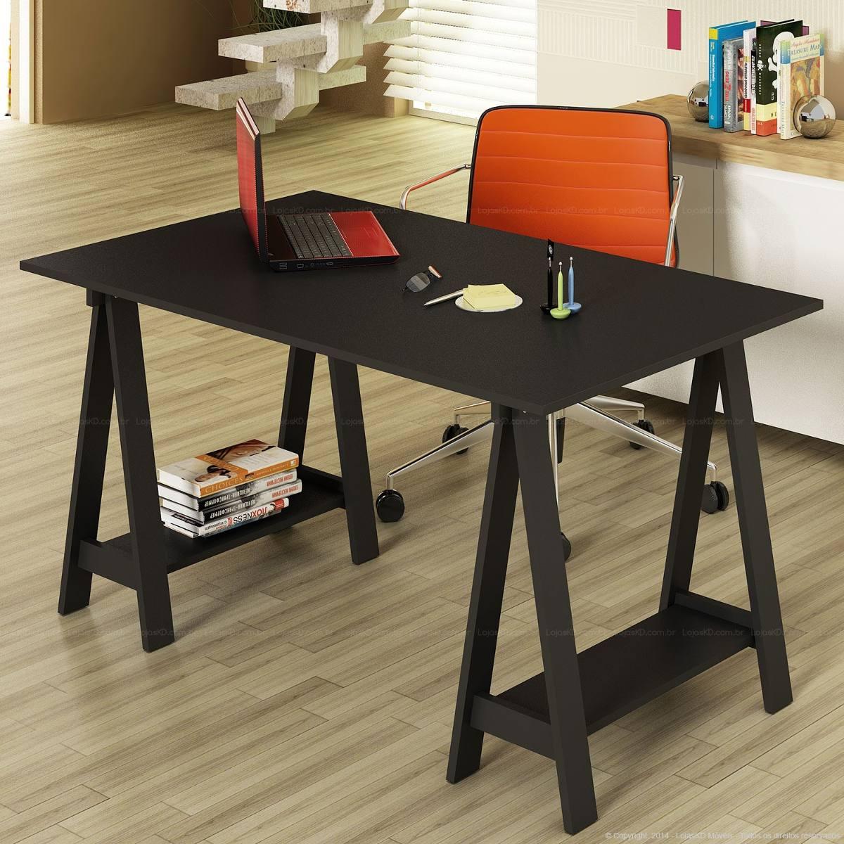 Mesa Escrivaninha Cavalete Mdf Uvim R$ 449 90 no MercadoLivre #B54016 1200x1200