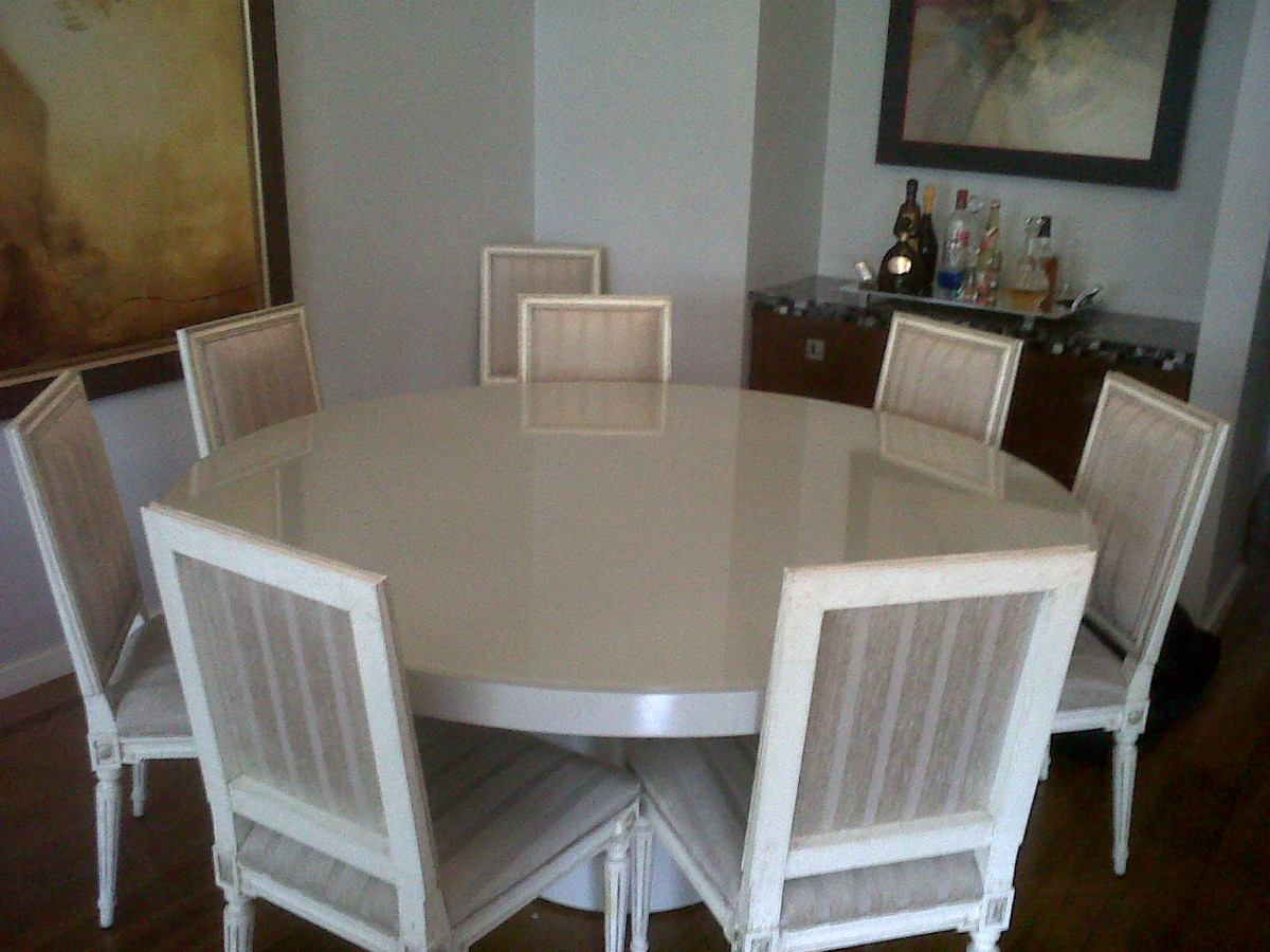 Sala Jantar Laca Preta ~ mesa jantar em laca branca, redonda, da loja micasa de grife