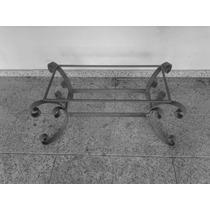 Mesa De Centro Ferro Maciço S Vidro Med80x40x80 Alt