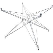 Base De Mesa Estrela Quadrada Pequena Galvanizada - Bbd225