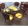 Conjunto De Mesa Circular E 4 Cadeiras Junco Rattan Ferro
