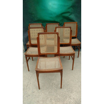 6 Cadeiras Designer Anos 70 Antiquario Breshopping