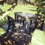 Conjunto De Mesa E Cadeira Em Madeira Plástica