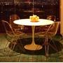 Conjuntomesa Saarinen Redonda + 4 Cadeira Dkr Torre