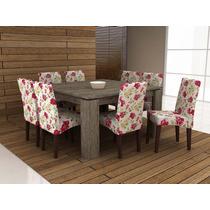 Jogo De Mesa Com 8 Cadeira Para Sala De Jantar