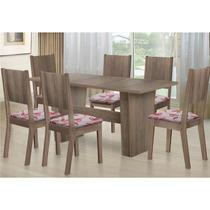 Sala De Jantar Com Mesa Hortência E 06 Cadeiras 100% Bp