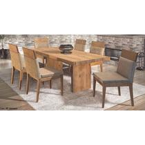Conjunto Mesa De Jantar E 6 Cadeiras Antiqua Plus - Rafana