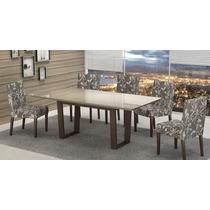 Mesa De Jantar Com 6 Cadeiras Lojix