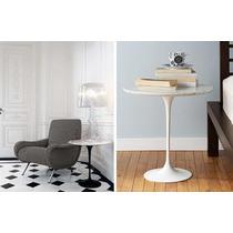 Mesa De Apoio Saarinen - Mármore Branco Extra Ou São Gabriel