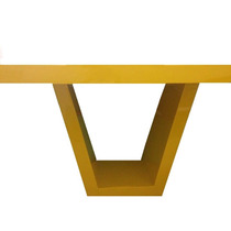 Mesa Amarela - Abarca - Resina - 6 Lugares
