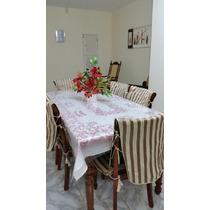 Mesa Jantar Madeira Maciça 6 Cadeiras Palhinha Indiana